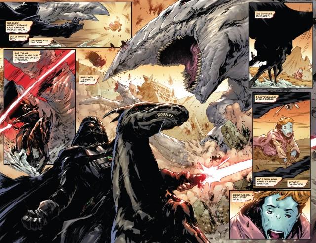 达斯维德撕杀怪兽 堕落英雄变成令人敬仰神话般的英雄