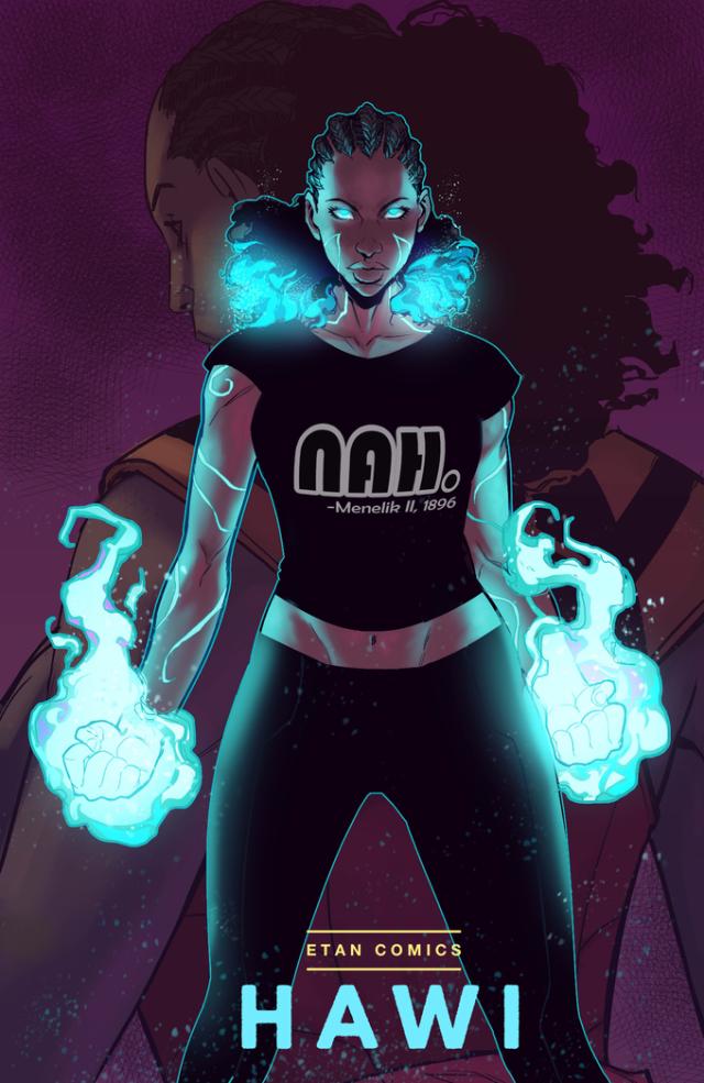 最新连载漫画《Hawi》 推出非洲史上首位女英雄