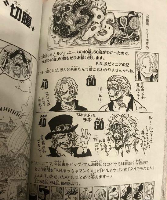 《海贼王》作者绘制多个新角色 萨博恶搞风格变酒鬼