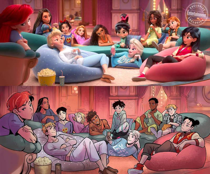 《敌破坏王2》迪士尼公主们性转 公主变王子帅气十足