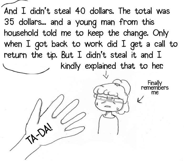 网络漫画家画出披萨外送员的辛酸 收小费被说成是小偷