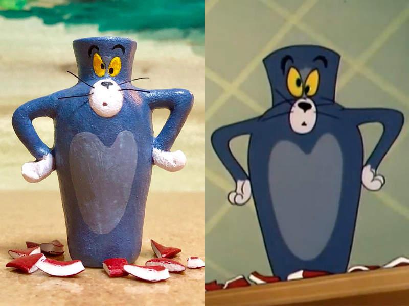 汤姆猫与杰利鼠实体化模型 有趣模型爆笑神还原