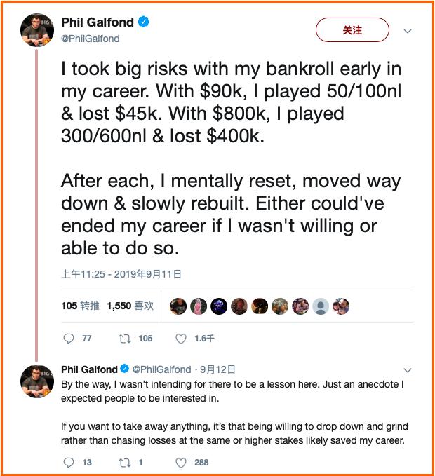 Phil Galfond承认糟糕的本钱管理差点结束自己的扑克生涯