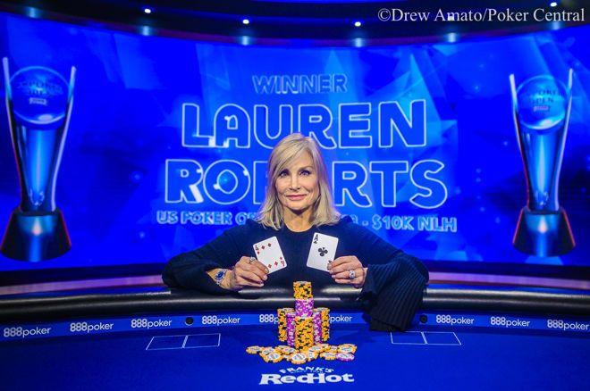 Lauren Roberts赢得美国扑克公开赛第三项赛事$10,000 NLH冠军!