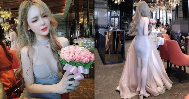 气质正妹Misa蜜莎上台接捧花!小洋装包不住「超窈窕曲线」,前凸后翘谁看了不想娶她!