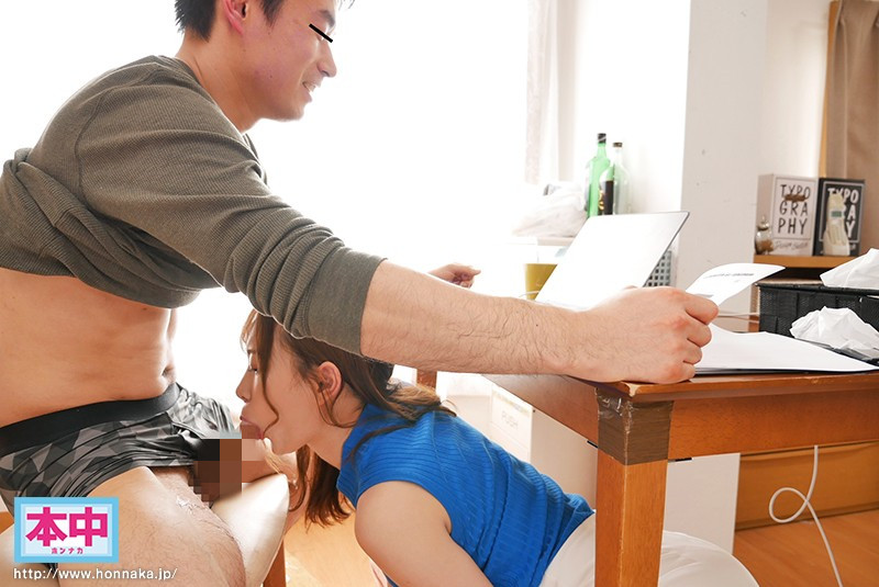 """""""美谷朱里""""作品HND-989 :痴女小恶魔在视讯会议中躲在桌下吃肉棒!"""