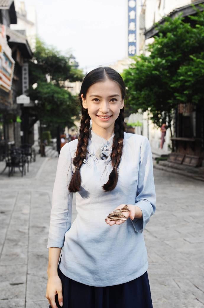 Angelababy练练孙俪刘诗诗开学之际回到民国做学生